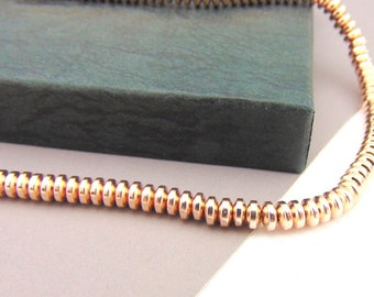 4mm Rose Gold Button Hermatine Beads,  Rose Gold Beads Jewellery Supplies