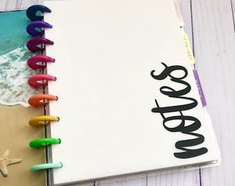 Notes Minimalist Vellum Insert / Dashboard for Discbound / Happy Planner