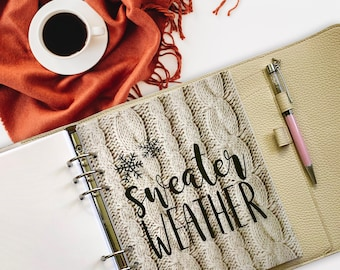 Sweater Weather Vellum Dashboard / Insert for Ring Planners