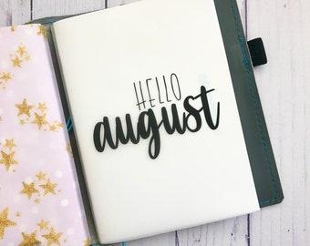 August Monthly Minimalist Planner Vellum Dashboard / Insert for Traveler's Notebooks