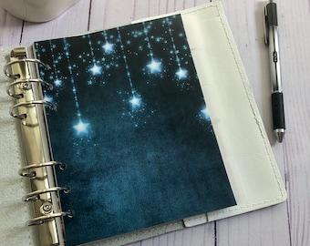 Shimmering Stars Vellum Dashboard / Insert for Ring Planners