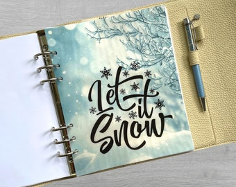 Let It Snow Vellum Dashboard / Insert for Ring Planners