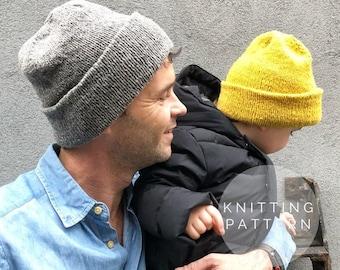 KNITTING PATTERN // Knit Hat Pattern // Knit Beanie Pattern // Red Hook Beanie