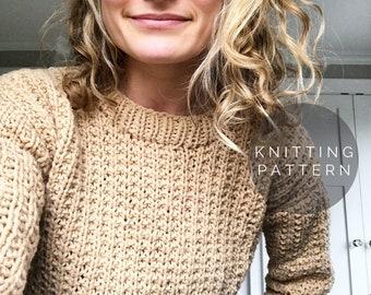 KNITTING PATTERN // Dakota Sweater // Knit Sweater Pattern // DIY Sweater // Oversize Sweater Pattern