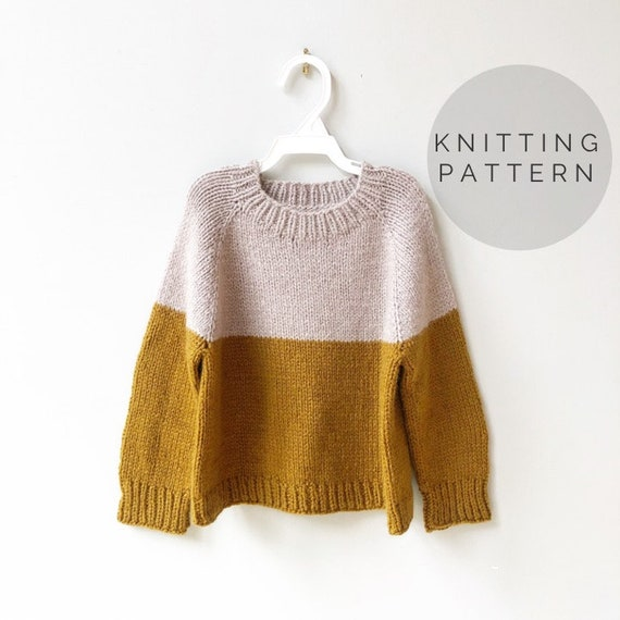 Beginner Friendly Top Down Knitting Pattern Cropped Sweater