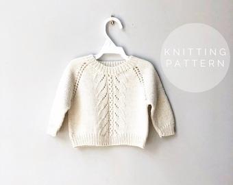 KNITTING PATTERN // Knit Sweater Pattern // Baby Sweater // Itty Bitty Pretty Sweater
