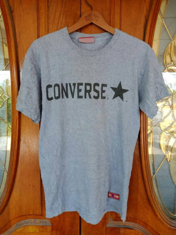 9d12ae044fcd Vintage 90s Converse All Star Chuck Taylor Spellout Design T