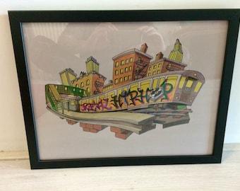 "Original drawing ""Subway Art"""