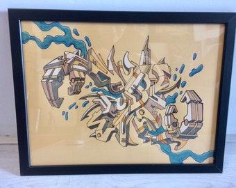 "Original drawing ""Cut the Crab"""