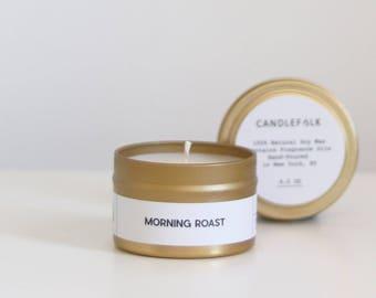 MORNING ROAST - 4 oz Travel Soy Candle - Hand-Poured - Candlefolk