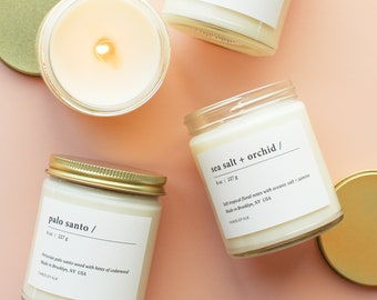 Pick Any 2 Classic Soy Candles (8oz) - Hand-Poured - Candlefolk