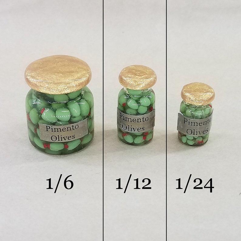 Olive Miniature Glass Jar Dollhouse Food Miniatures Dollhouse Supply Glass Bowls
