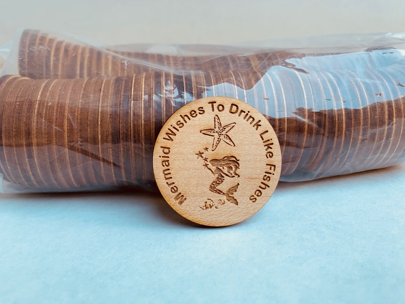 Custom Coins Double Sided Wooden Tokens Wood Coins Festival Wood Coins Military Promotion Challenge Coins Challenge Coins Wood Coins