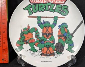 TMNT melamine plate 1989 Teenage Mutant Ninja Turtles
