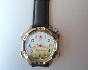 Unique Soviet Union Russian Vostok Generalski World War II Victory Dial Men's Mechanical Watch FREE SHIPPING