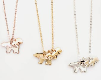Mama Bear - Baby Bear Necklace - Mama Bear Necklace - Mother's Necklace