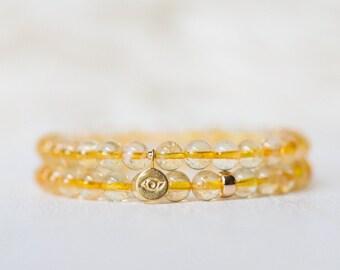 Citrine bracelet, AAA grade, November birth gemstone, genuine natural gemstone, Abundance bracelet, Prosperity bracelet   Natural