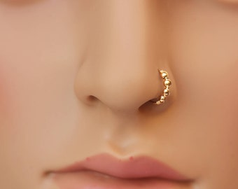 Nose Ring Nose Hoop Seamless Cartilage Earring Sterling Silver Tiny Nose Hoop Small Nose Ring 24g To 20g 6mm 9mm 11mm 13mm Unique Christmas Gifts