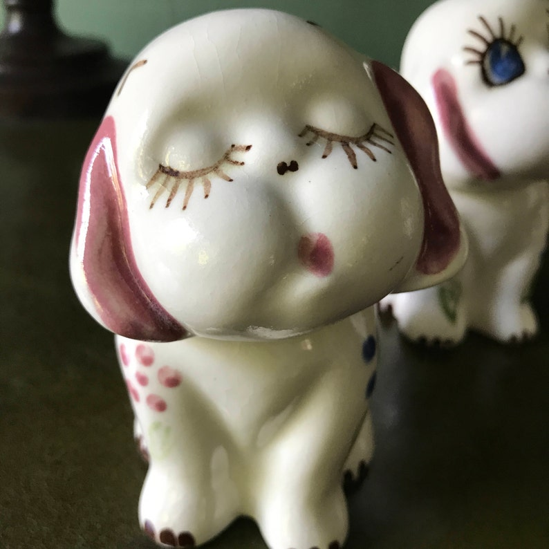 Adorable Ceramic Puppy Planters by Block Pottery California