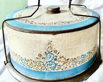 Fabulous Old Shabby Cake Saver Tin