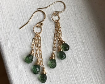 AAA Green Apatite and 14k Gold Fill - Free U.S. Shipping