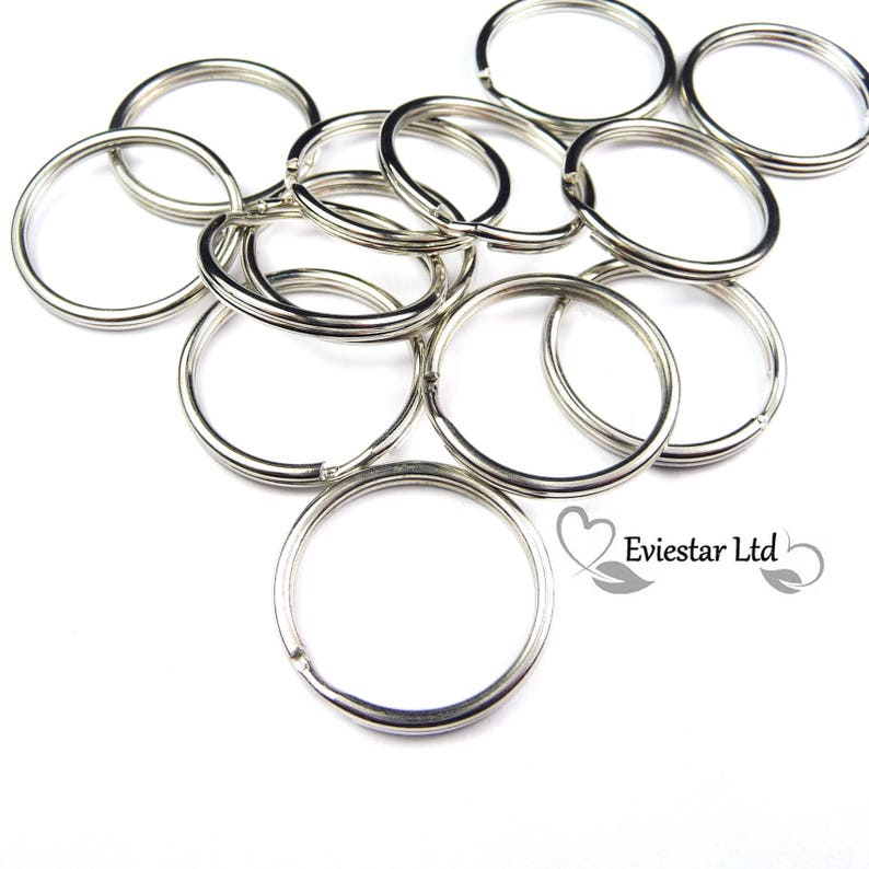 Steel Nickel Plated BULK 500PCS Double Split Rings KRS Ideal for Keys and Crafts 24mm Key Rings Jewellery Findings