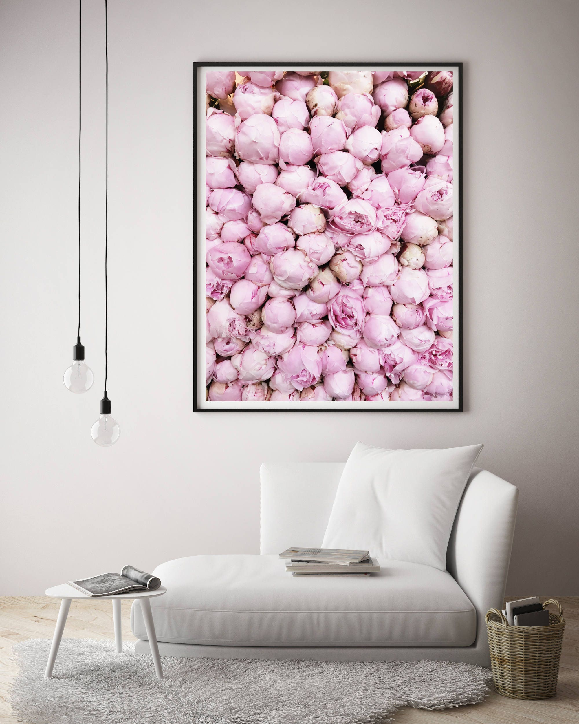 Pink Peony Photo, Peony Art Print, Paris Decor Bedroom, Peony Wall Art,  Paris Wall Decor, Cafe Art Decor, Large Wall Art, Paris, France, Art