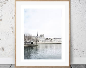 Paris, Seine, Wall Art, Photography, Digital Download, Architecture, Digital Print, Art & Collectibles, Instant, Islands, beautiful art
