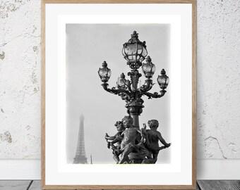 Paris, Eiffel Tower, Wall Art, Photography, Digital Download, Modern Minimalist, Digital Print, Art & Collectibles, Bridges of Paris, Seine