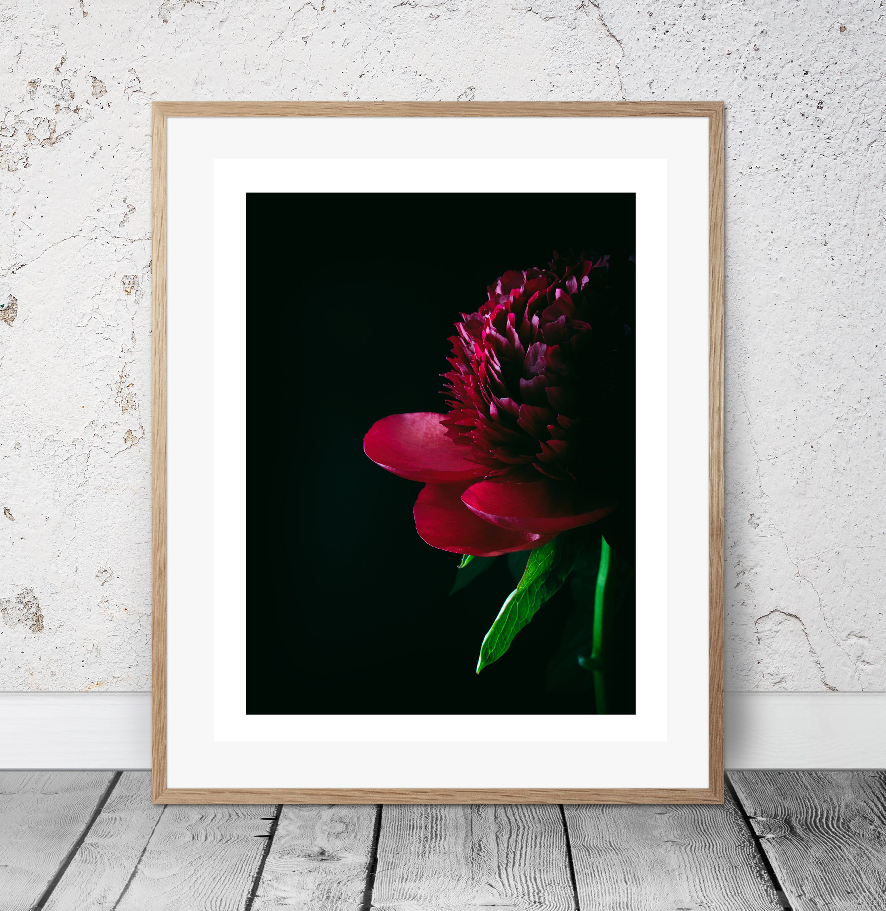 Red Peony Photo, Peony Art Print, Paris Decor Bedroom, Peony Wall Art, Paris  Wall Decor, Cafe Art Decor, Gallery Wall Photo, Rose