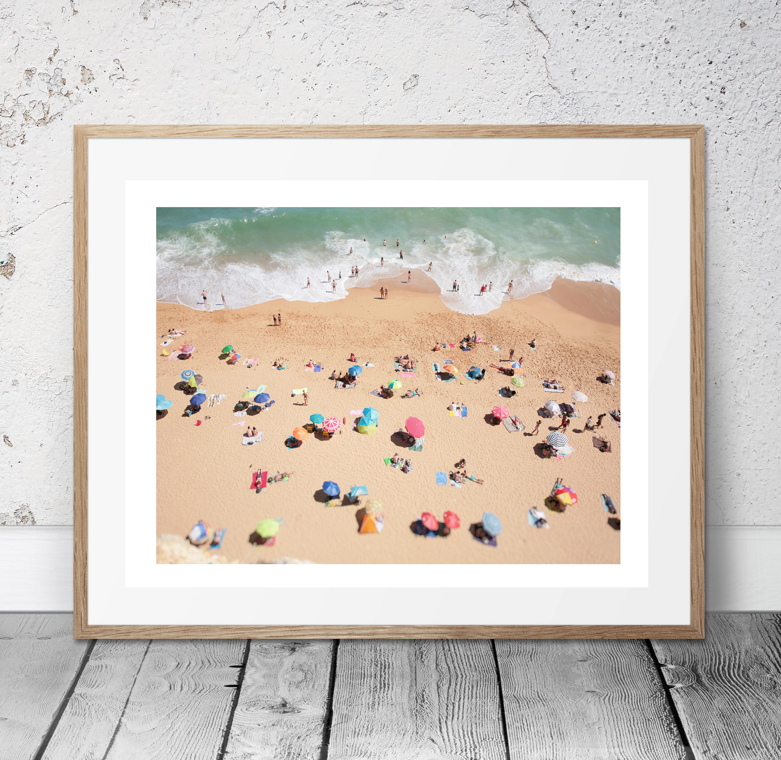 Aerial Beach Photo People On The Modern Wall Art Coastal Decor Abstract Ocean Large Print