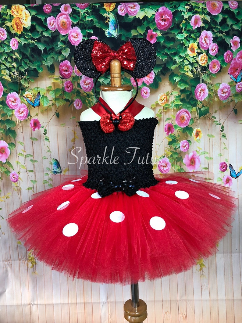 9f8bc0962 Minnie Mouse Tutu Dress Inspired Halloween Minnie Tutu | Etsy