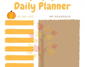 Autumn Inspired Daily Planner