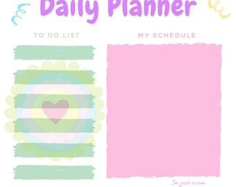Pastel Daily Planner