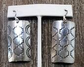 Southwestern Native American Sterling Silver Earrings