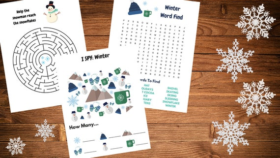 Printable Winter Kid Activity Sheets  ISpy  Word Search
