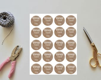 Rustic Burlap Thank You Tag. Instant Download. Wedding Thank You Tag. Baby Shower Thank You Tag.