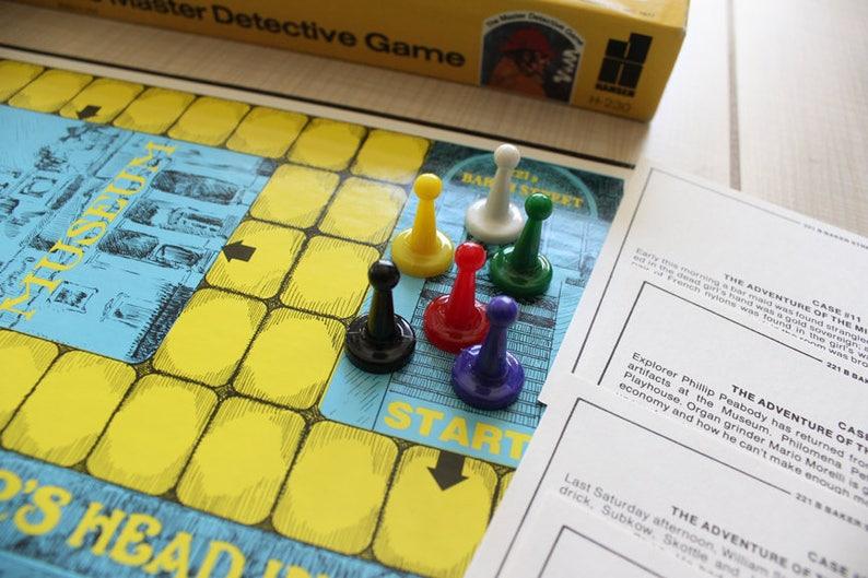 Case Blue Board Game : 221b baker street master detective board game hansen sherlock etsy