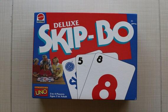 Deluxe Skip Bo Card Game Mattel Games 1992 Skipbo Skip Bo Etsy