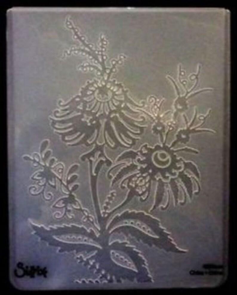 Sizzix Beatnik Bouquet Flowers Embossing Folder 4.5x5.75 works in most machines