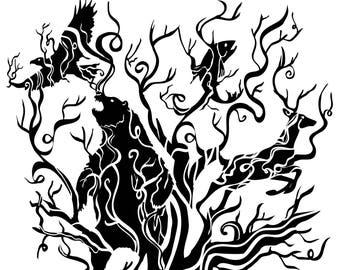 Spirit Tree digital illustration