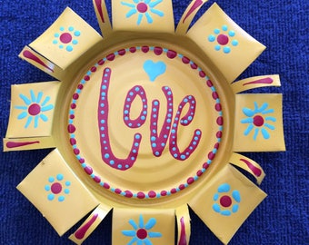 5 inch Butter Yellow Love Magnet or Coaster