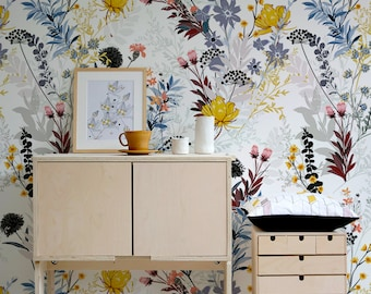 Removable Wall Decor A163 Removable Peel and Stick Wallpaper Wallpaper Desert Floral Design Removable Wallpaper Wall Paper Removable