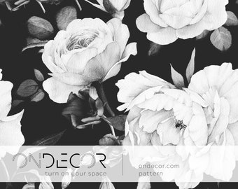 Floral Wallpaper Etsy