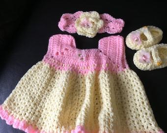 Baby girls crochet dress
