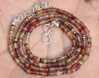 15 Inches Natural Petro Tourmaline Rondelles 4.5mm to 5mm Rare Beads Faceted Gemstone Beads Genuine Tourmaline Rondelle Beads No810