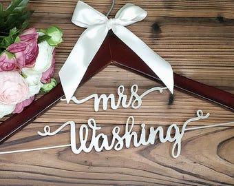 Bridal Shower Gift | Personalized Wedding Hanger | Bridal Hanger| Gift for Her | Gift for Bride | Custom Wedding Dress Hanger, MG002