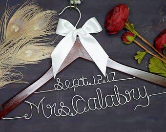 Wedding Hanger for Bride or Bridesmaid, Personalized Wedding Hanger, Bridal Hanger, Custom Name Hanger, Perfect for Bridal Party,Bridal Gift