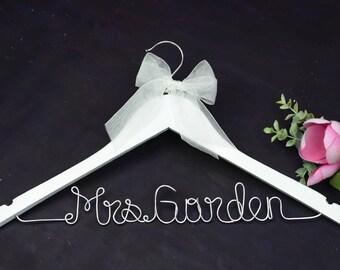 Custom bridal hanger | Etsy