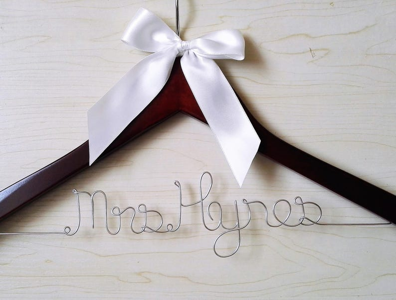 Personalized Wedding Hanger Gift for Bride/'s Sister Unique Wedding Shower Gift Gift for Groomsmen Bridal Hanger Gift for Bride/'s Mom